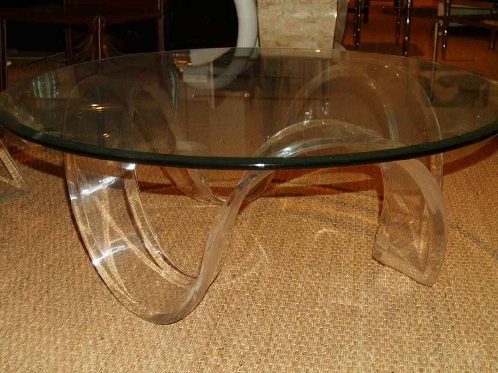 Picture of: Lucite Coffee Table Round