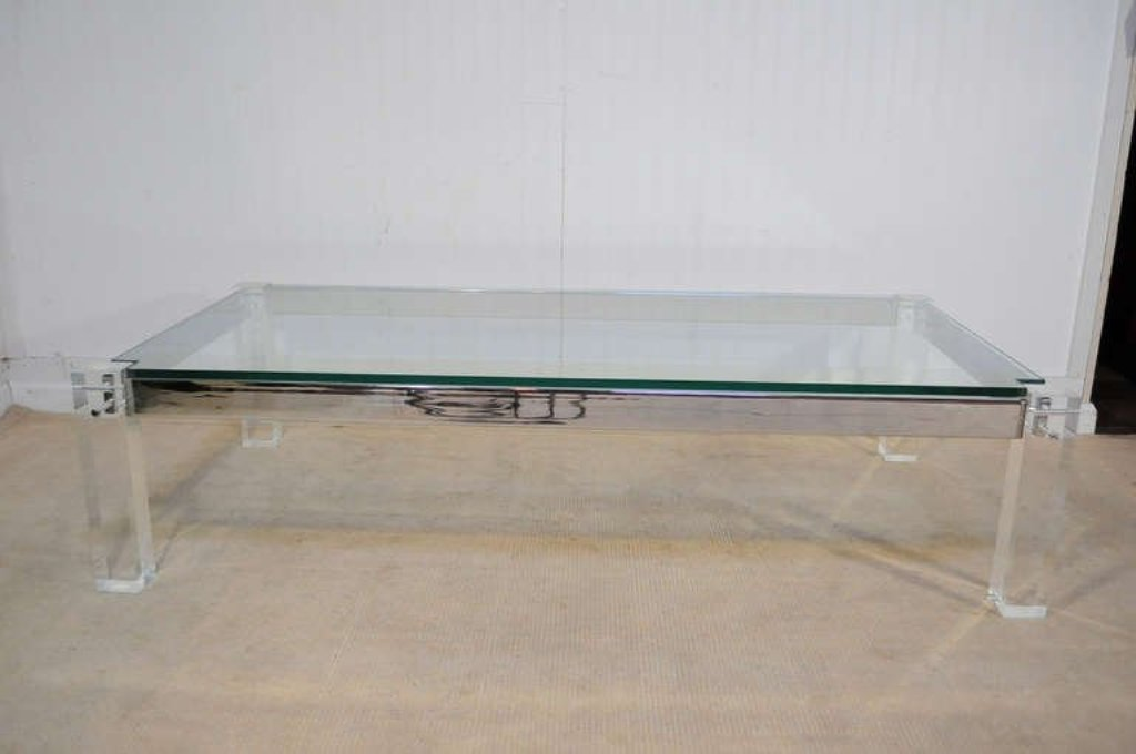 Picture of: Lucite Coffee Table Vintage