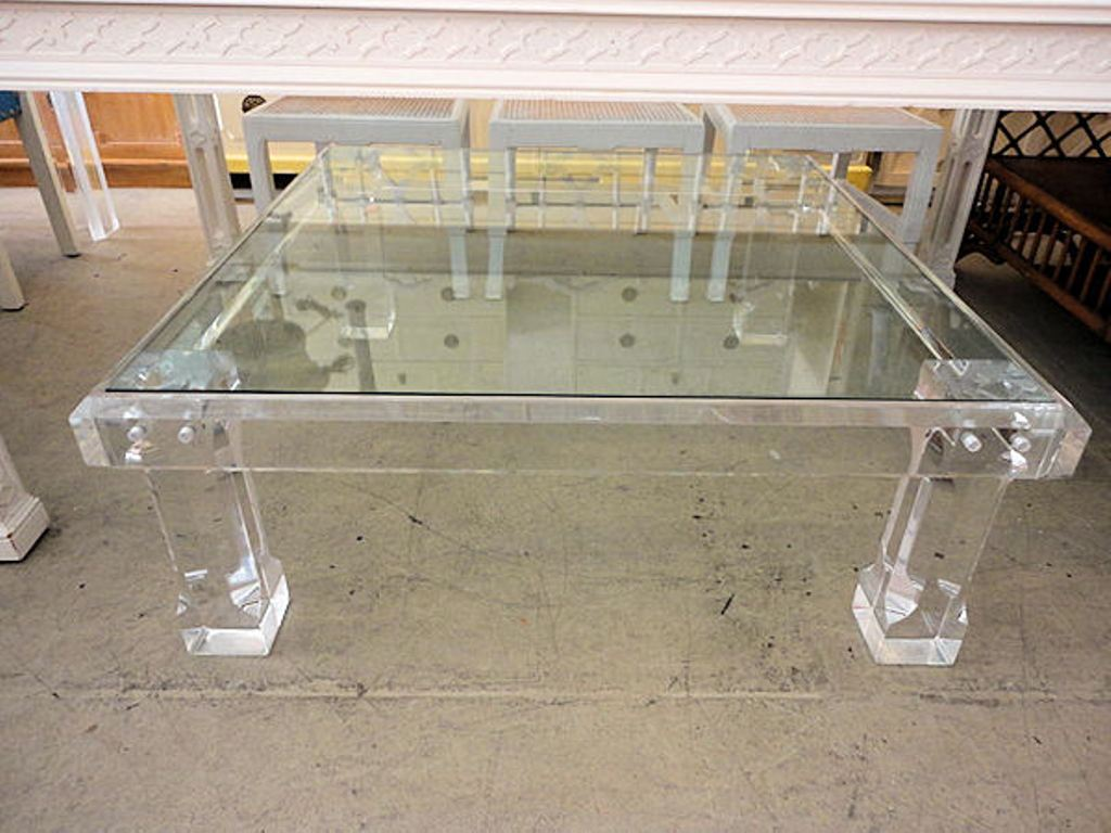Image of: Lucite Coffee Table Wisteria