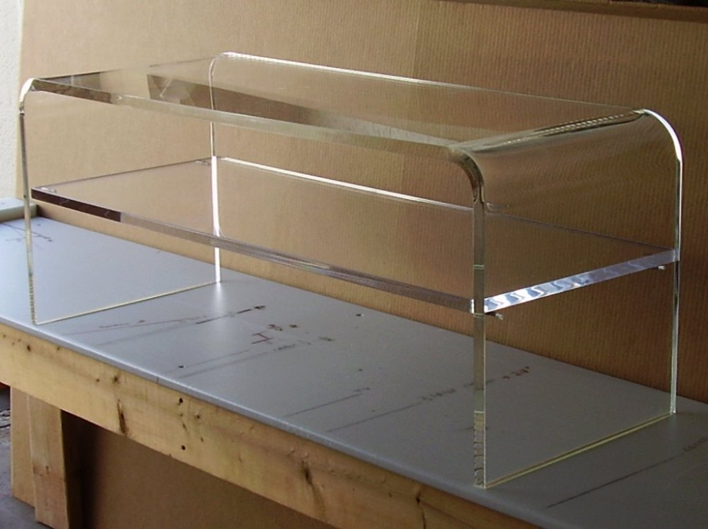 Picture of: Lucite Coffee Table With Shelf
