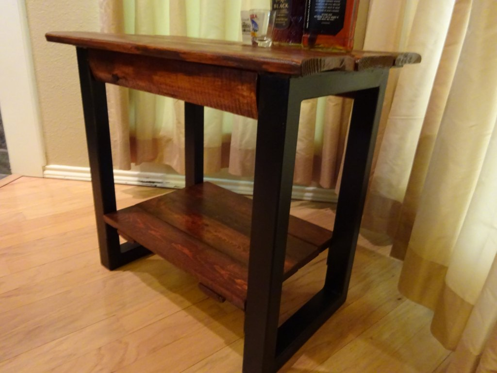 Picture of: Metal Table Legs With Shelf