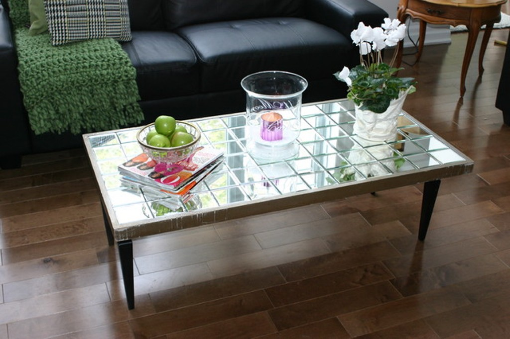 Image of: Mirror Coffee Table Diy