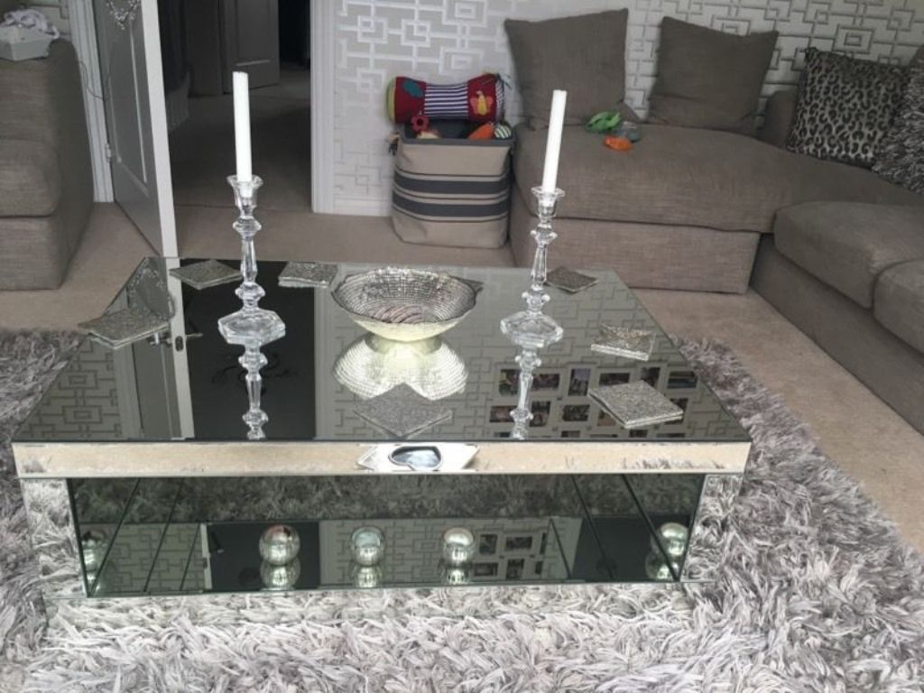 Image of: Mirror Coffee Table Next