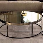 Mirror Coffee Table Round