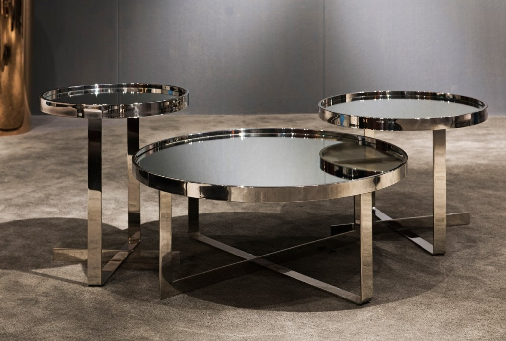 Image of: Mirror Coffee Table Set