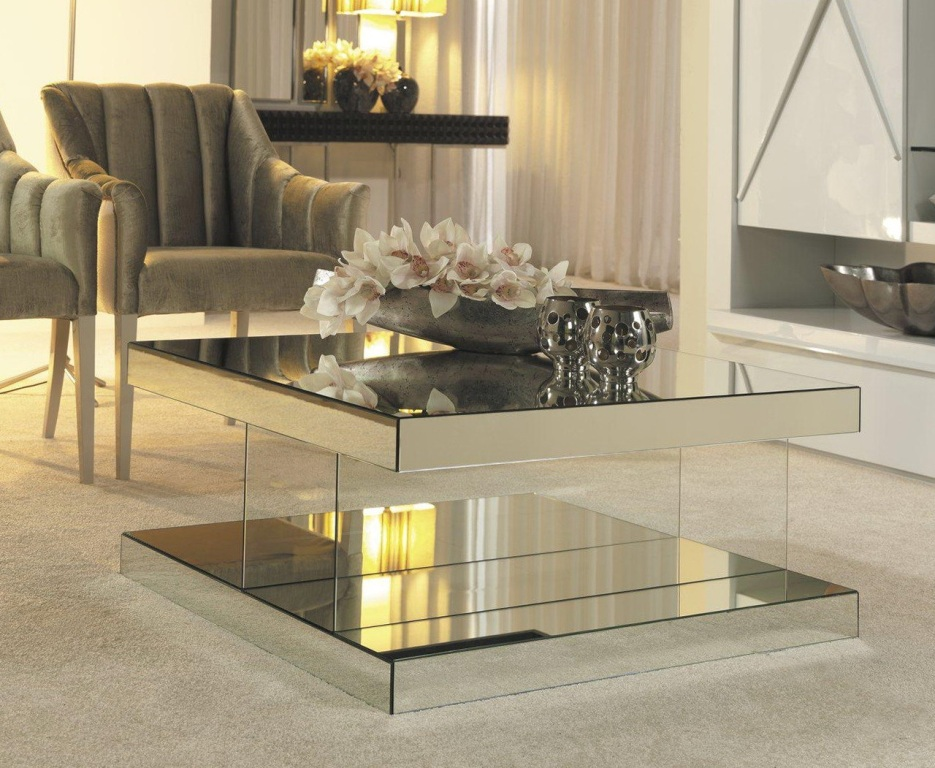 Image of: Mirror Coffee Table