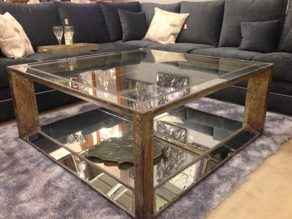 Picture of: Mirrored Accent End Table