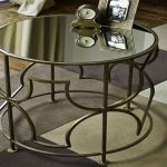 Mirrored End Table Round