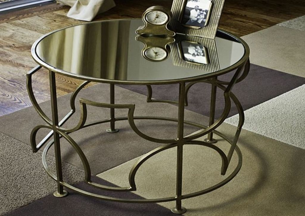 Picture of: Mirrored End Table Round
