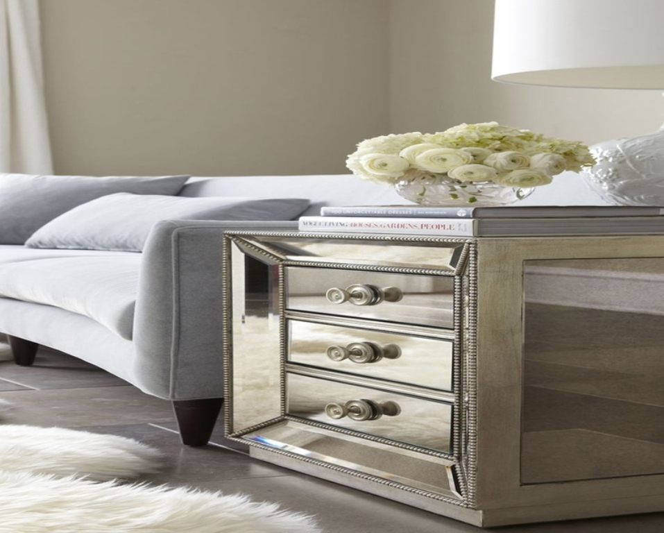 Picture of: Mirrored End Tables Bedroom