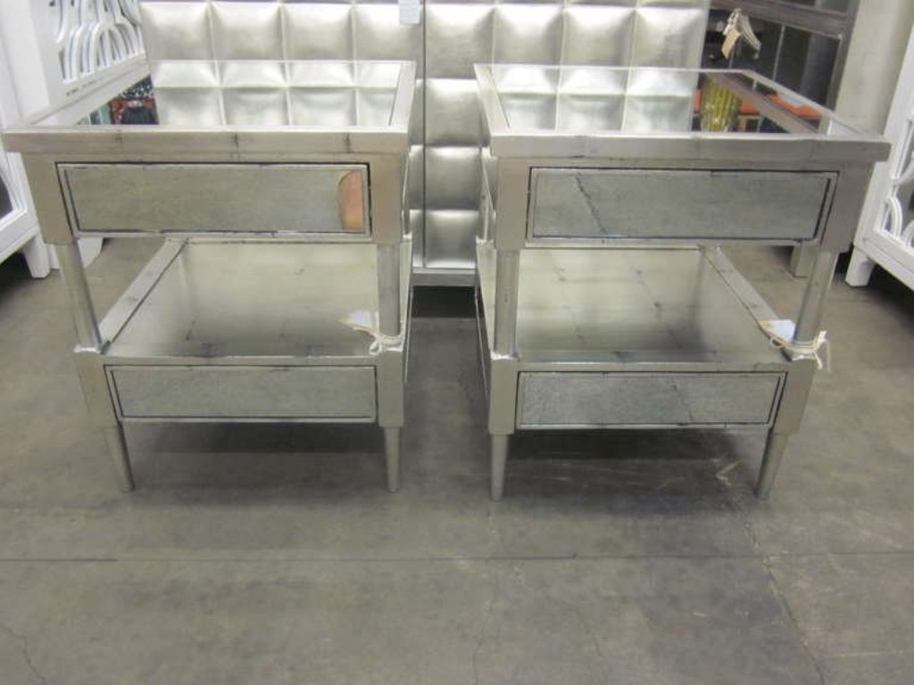 Mirrored End Tables Nightstands