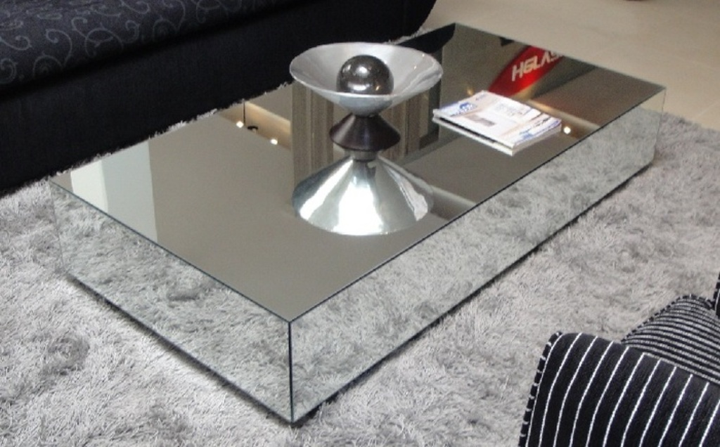 Image of: Modern Mirror Coffee Table