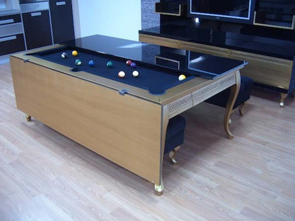 Image of: 6 Foot Dining Room Pool Table Combo