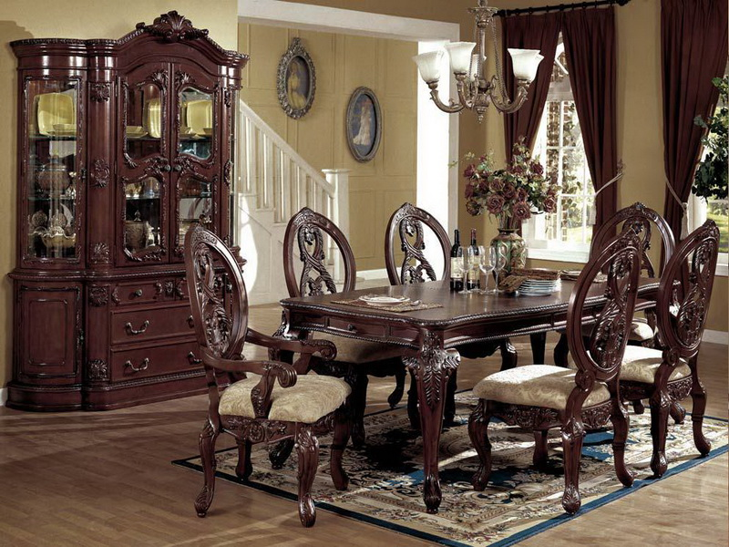 Image of: Antique Formal Dining Room Tables
