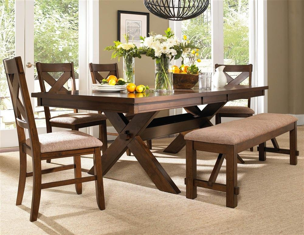 Image of: Beautiful Benches for Dining Room Tables
