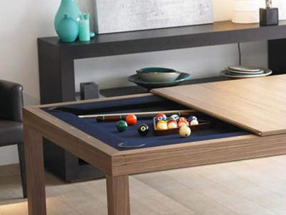 Image of: Indoor Dining Room Pool Table Combo