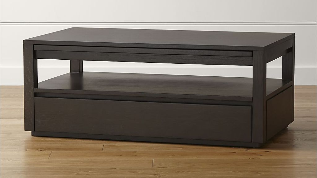 Picture of: black rectangular coffee table