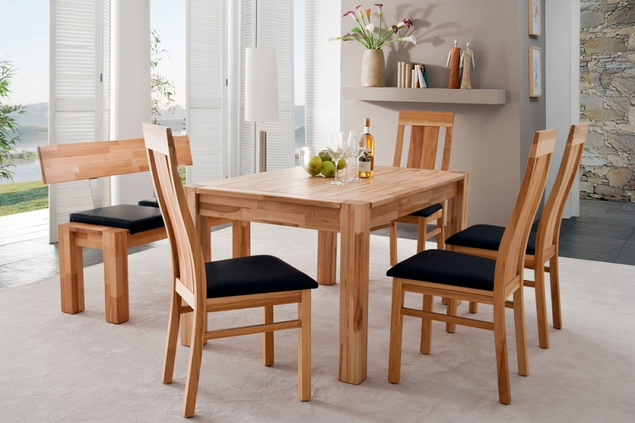 Image of: Chic Gorgeous Square Dining Table Seats 8