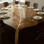 Contemporary Dining Room Table With Leaf