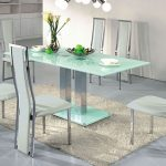Contemporary Square Dining Table Seats 8