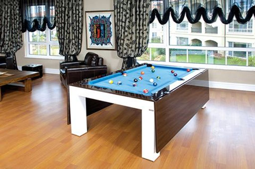 Image of: Dining Room Pool Table Combo Air Hockey