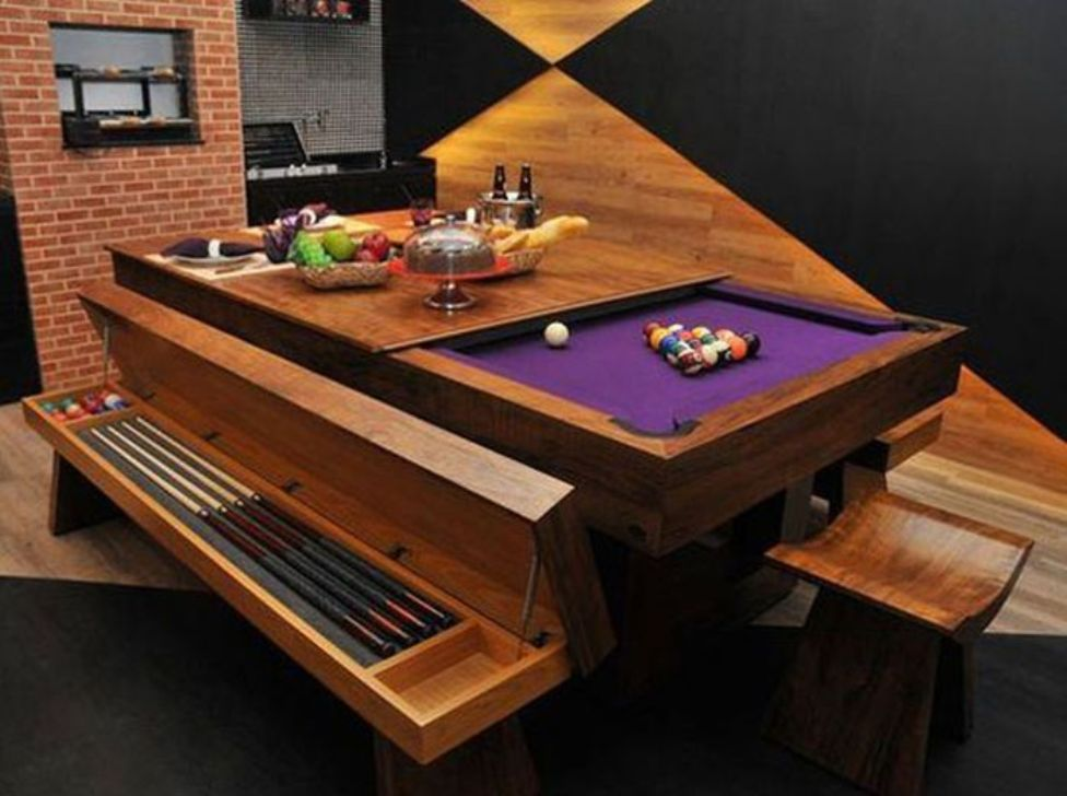 Image of: Dining Room Pool Table Combo Set
