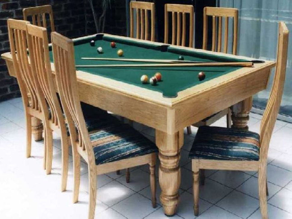 Picture of: Dining Room Pool Table Combo and Fuzz Ball