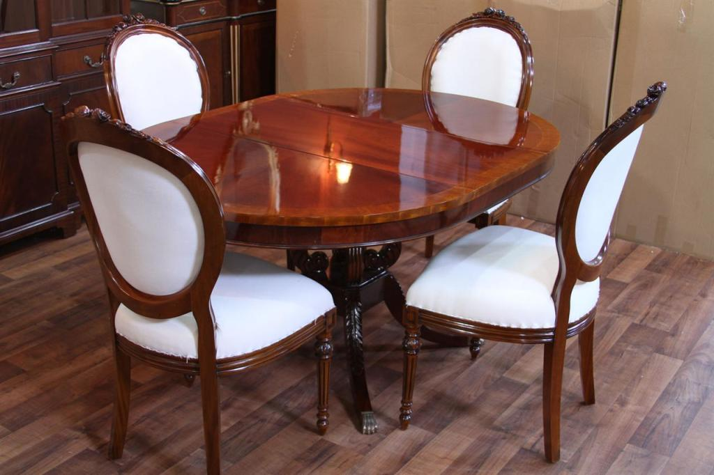Picture of: dining room table with leaf design