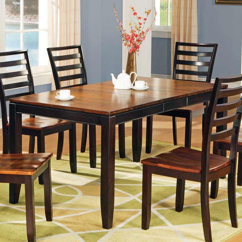 Image of: Dining Room Tables with Leaves Wood