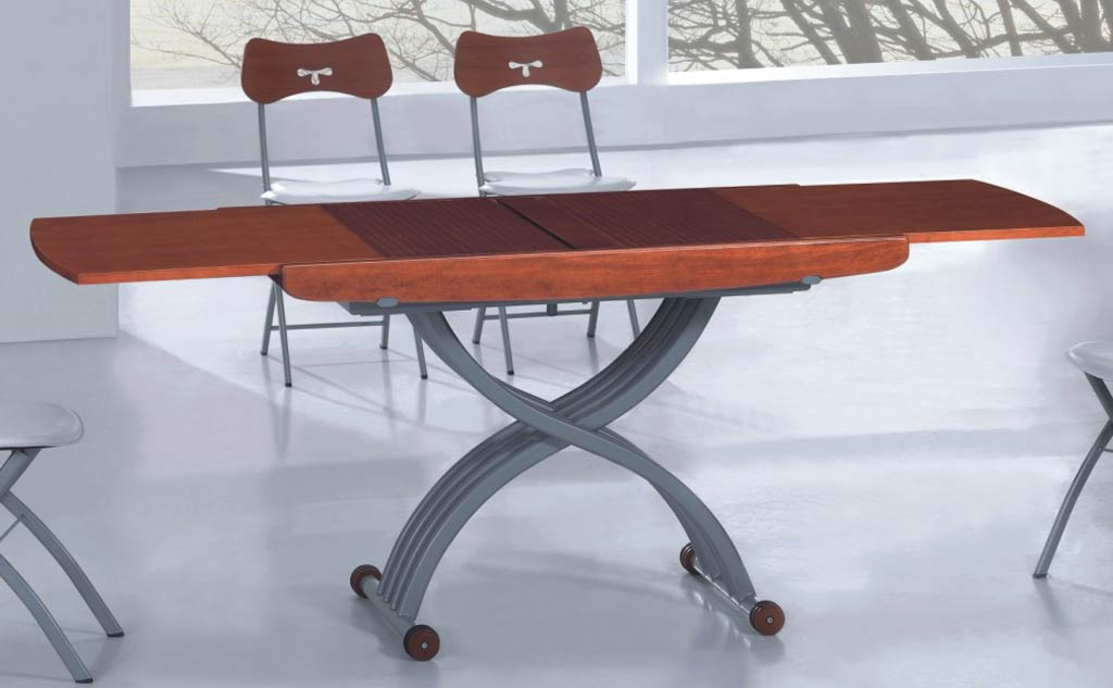 Image of: Elegant Adjustable Height Dining Table