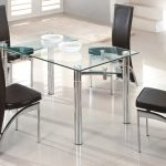 Extendable Dining Table Set Glass