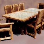 Faux Granite Dining Table Set