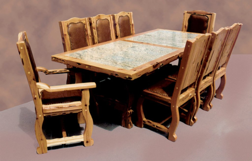 Picture of: Faux Granite Dining Table Set