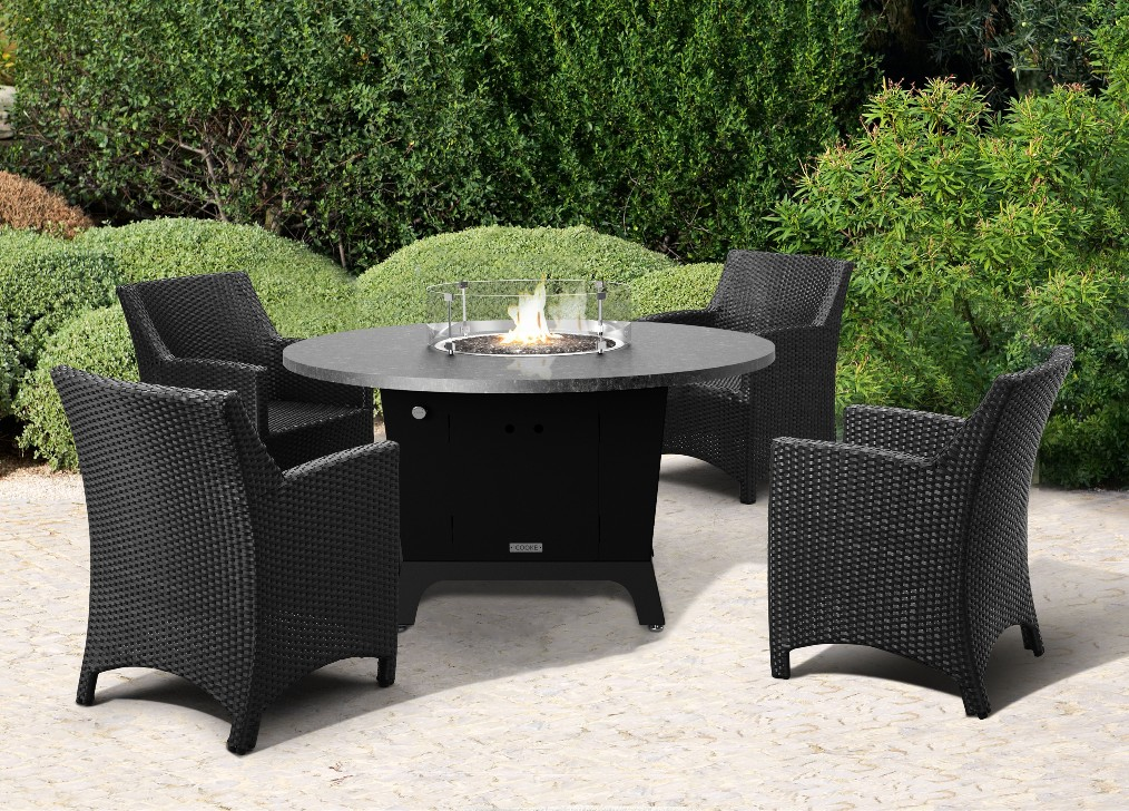 Image of: Fire Pit Dining Table DIY