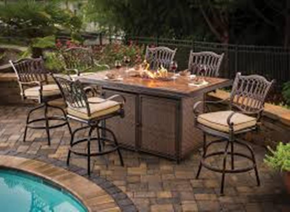 Picture of: Fire Pit Dining Table Design