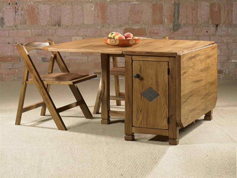 Image of: folding dining room table and chairs