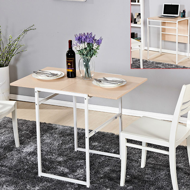 Picture of: folding dining room table modern wood