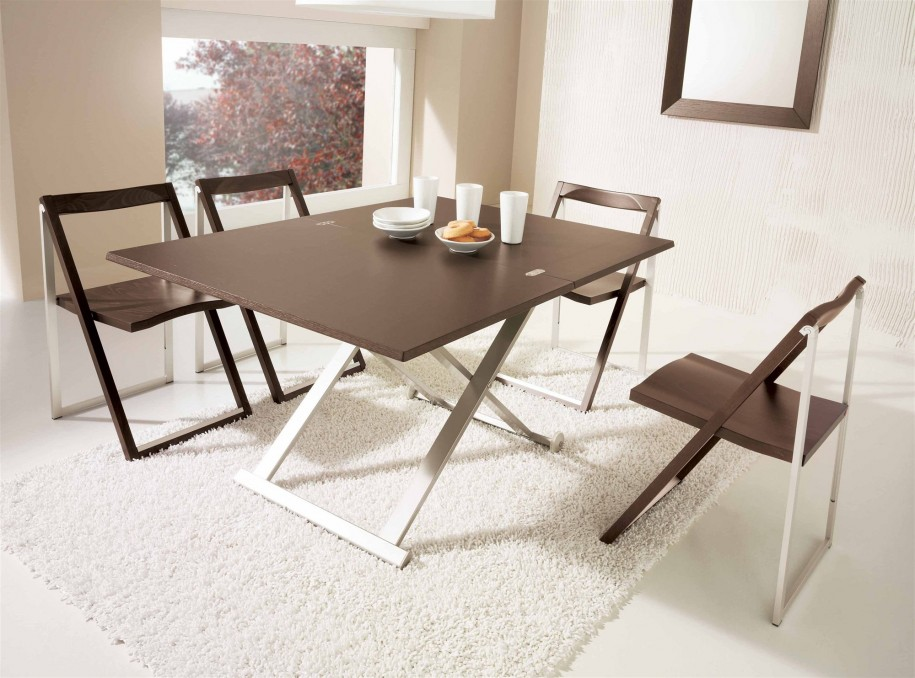 Picture of: folding dining room table modern