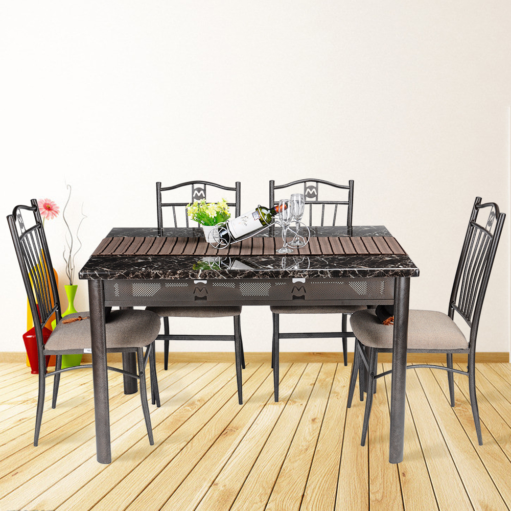 Picture of: folding dining room table steel