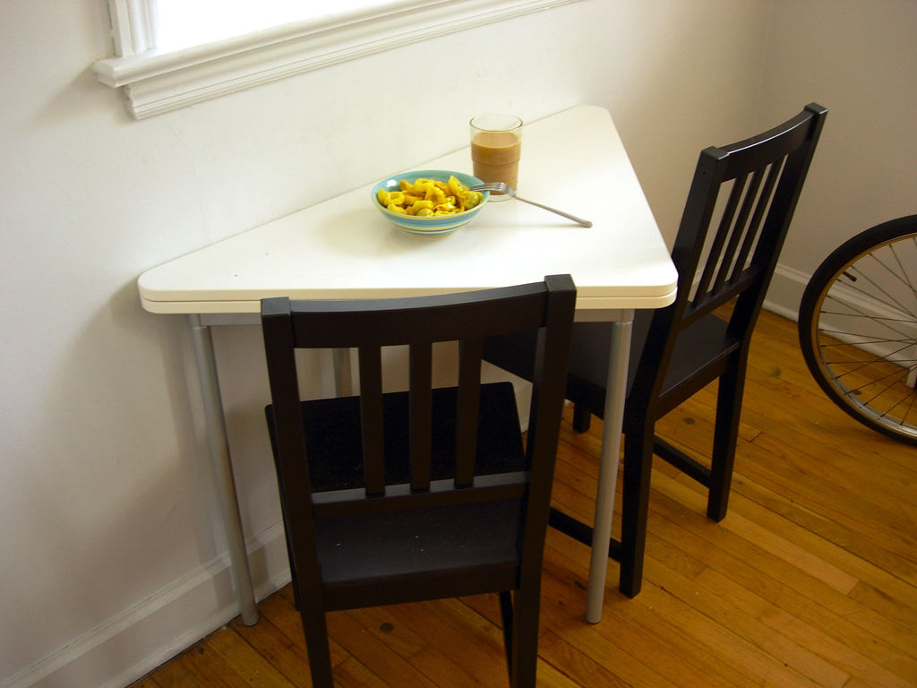 Image of: folding dining room table triangle