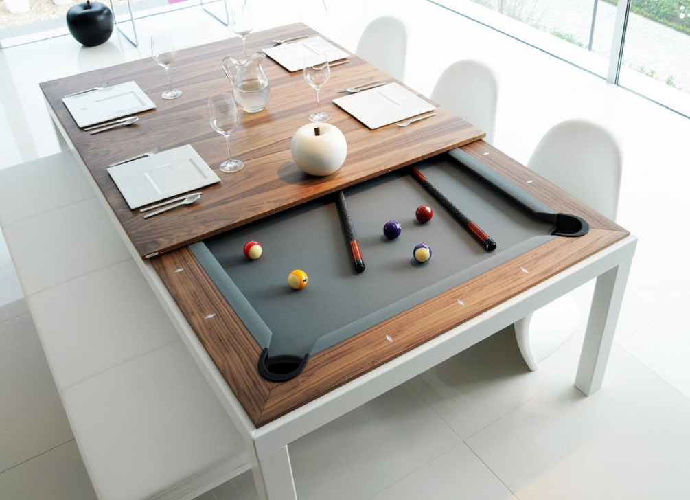 Picture of: Foosball Dining Room Pool Table Combo
