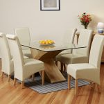 Glass Extendable Dining Table Set