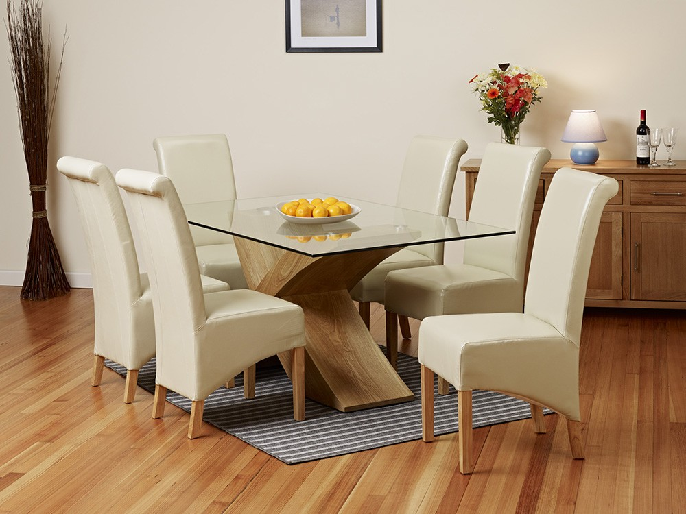 Image of: Glass Extendable Dining Table Set