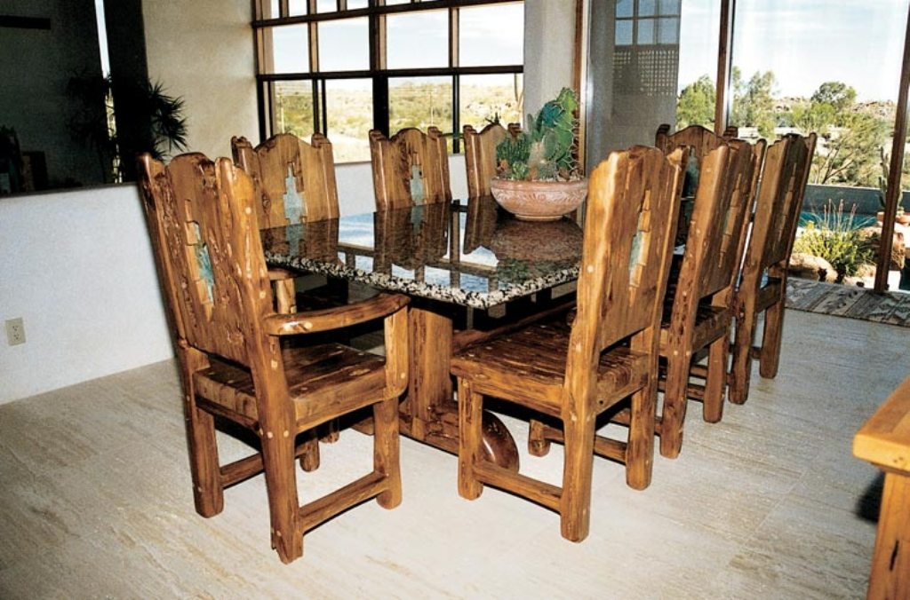 Picture of: Granite Dining Room Table Set