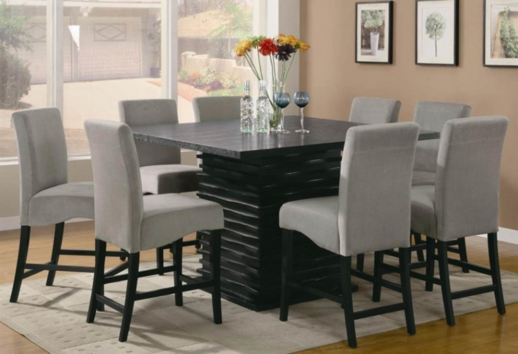 Picture of: Granite Dining Table 8 Chairs