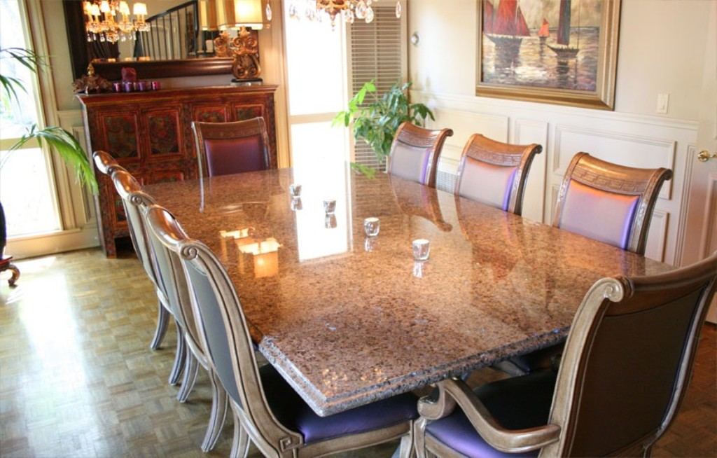 Picture of: Granite Dining Table and Chairs