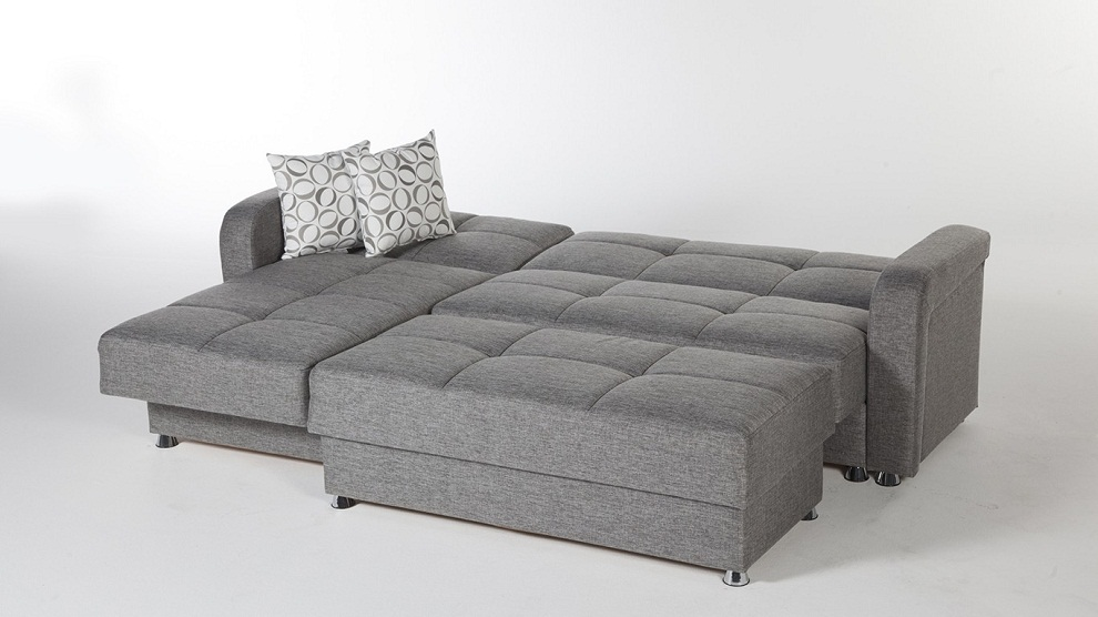 Picture of: Gray Sleeper Sofa Sectional