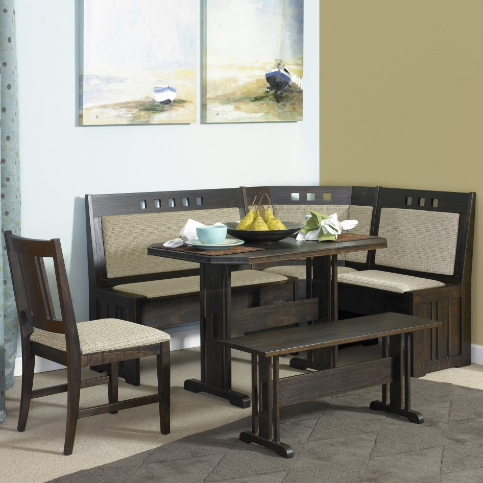 Picture of: Nook Dining Table Set Bench