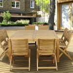 Outdoor Square Dining Table Seats 8