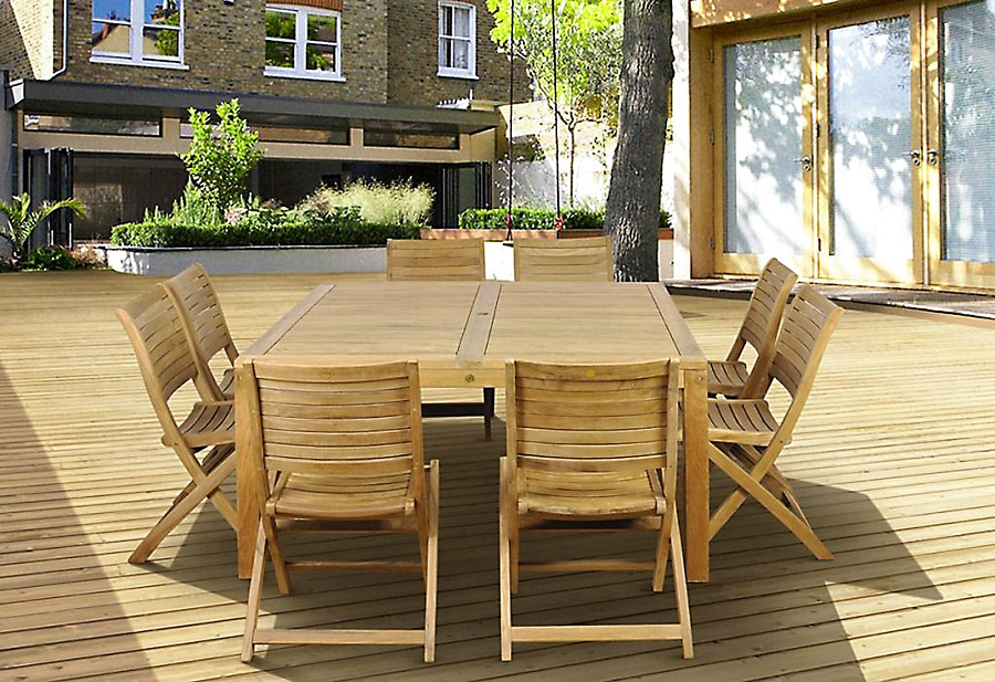 Image of: Outdoor Square Dining Table Seats 8